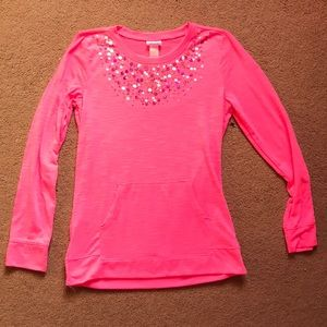 Hot pink Justice long sleeve!